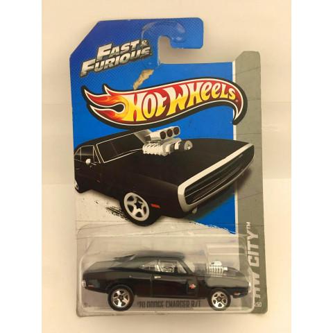 Hot Wheels - 70 Dodge Charger R/T Preto - Fast & Furious  - LEIA Descrição