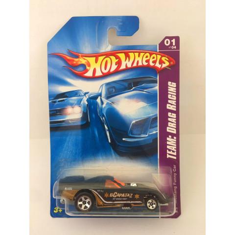 Hot Wheels - Mustang Funny Car Preto - Mainline 2008