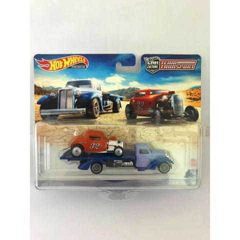 Hot Wheels - 32 Ford / Speed Waze Azul/Laranja - Team Transport