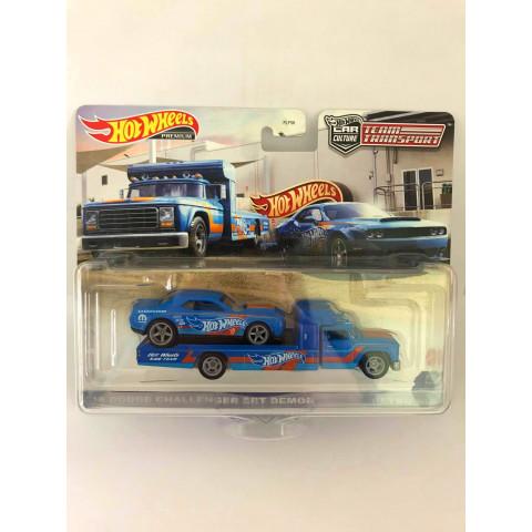 Hot Wheels - 18 Dodge Challenger SRT Demon Azul - Team Transport
