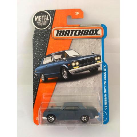 Matchbox - 71 Nissan Skyline 2000 GTX Azul - Básico 2017