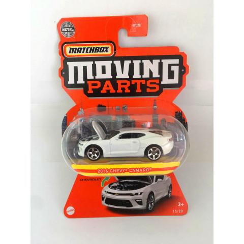 Matchbox - 2016 Chevy Camaro Branco - Moving Parts