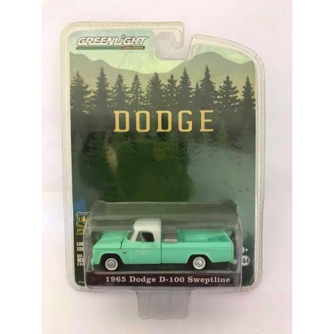 Greenlight - 1965 Dodge D-100 Sweptline Verde - Dodge