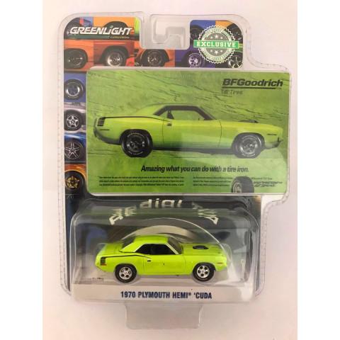Greenlight - 1970 Plymouth Hemi Cuda Verde - BFGoodrich