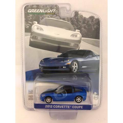 Greenlight - 2012 Corvette Coupe Azul - Chevrolete