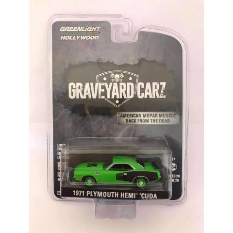 Greenlight - 1971 Plymouth Hemi Cuda Verde - Graveyard Carz - Hollywood