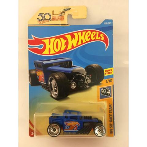 Hot Wheels - Bone Shaker Azul - HW 50 Race Team