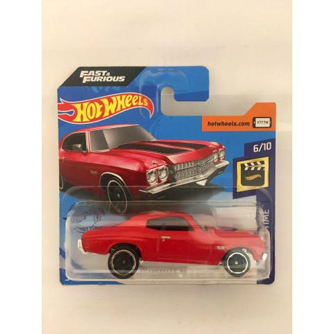 Hot Wheels - 70 Chevelle SS Vermelho - Cartela Curta - Mainline 2019 - Fast & Furious