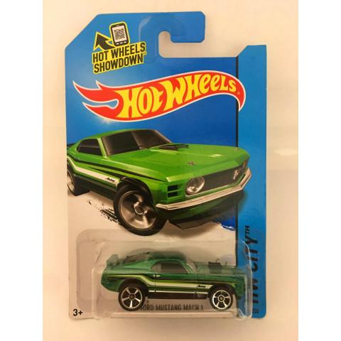 Hot Wheels - 70 Ford Mustang Mach 1 Verde - Mainline 2014