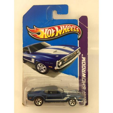 Hot Wheels - 71 Mustang Boss 351 Azul - Mainline 2013