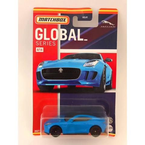 Matchbox - 15 Jaguar F-Type Coupe Azul - Global Series