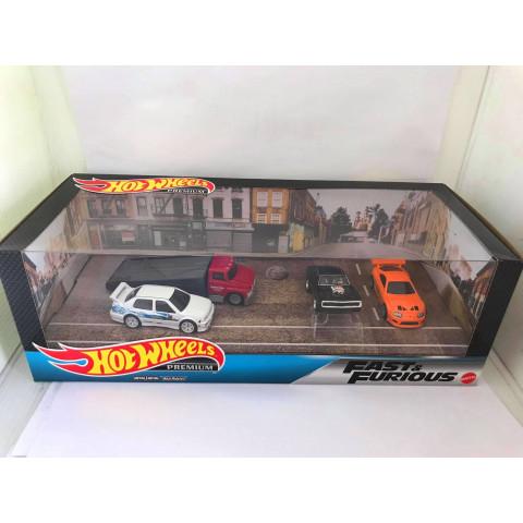 Hot Wheels - Set Fast & Furious - Supra_Jetta_70 Dodge Charger - Velozes e Furiosos  Premium