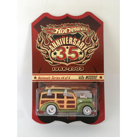 Hot Wheels - 40s Woodie - 3rd Annual Collectors Nationals Anniversary 35 1968-2003