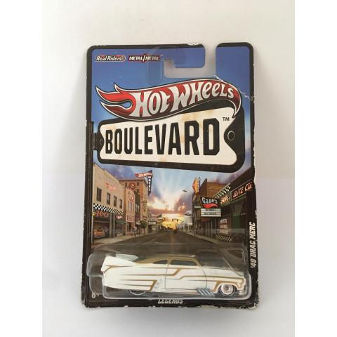 Hot Wheels - 49 Drag Merc Branco - Boulevard - Leia Descrição