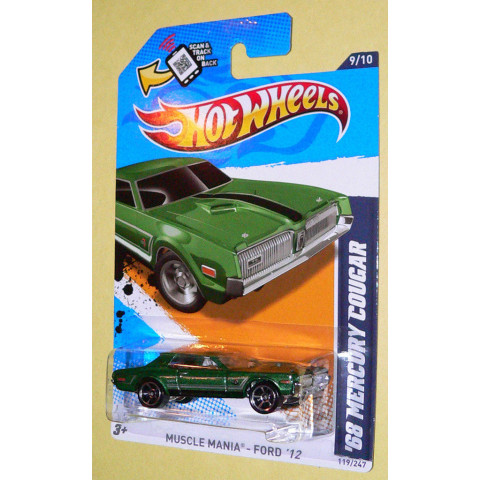Hot Wheels - 68 Mercury Cougar - 2011 - Variação Kmart