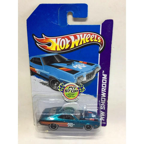 Hot Wheels - 72 Ford Gran Torino Sport Azul - Treasure Hunt Super 2013