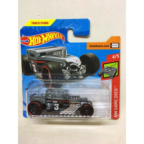 Hot Wheels - Bone Shaker Cinza - Mainline 2019