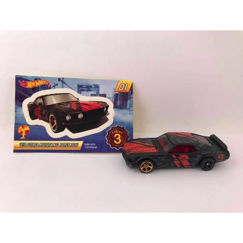 Hot Wheels - 69 Ford Mustang Boss 302 Preto - Mystery Models - Walmart Exclusivo 2019