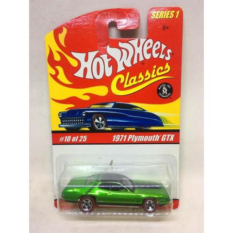 Hot Wheels - 1971 Plymouth GTX Verde - Classics