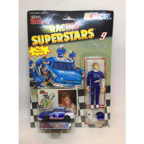 Racing Champions - Ford Azul - Bill Elliot - Racing Superstars - Nascar
