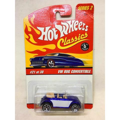 Hot Wheels - VW Bug Convertible Azul - Classics