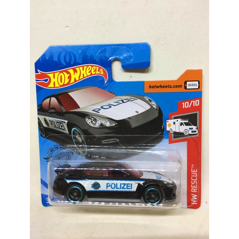 Hot Wheels - Porsche Panamera Preto - Mainline 2019