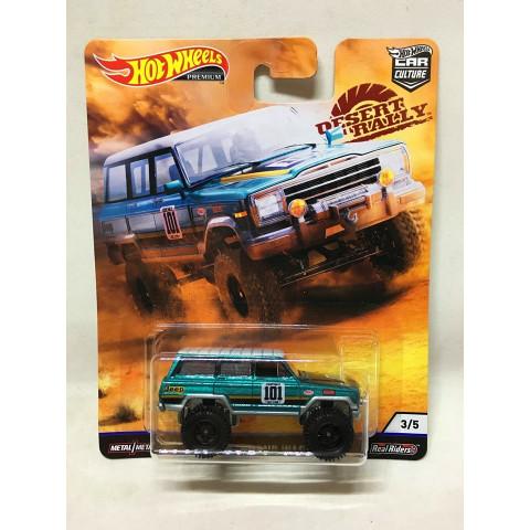 Hot Wheels - 88 Jeep Grand Wagoneer Verde - Desert Rally - HW Premium