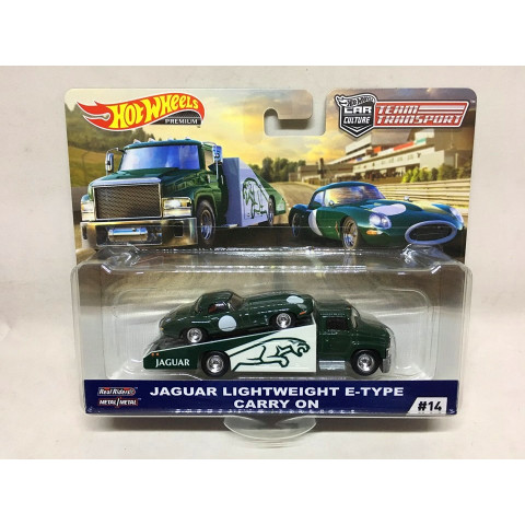 Hot Wheels - Jaguar Lightweight E-Type Carry On - Team Transport - HW Premium