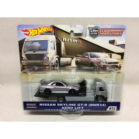 Hot Wheels - Nissan Skyline GT-R (BNR34) Aero Lift - Team Transport - HW Premium