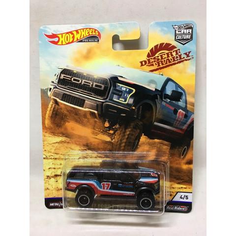 Hot Wheels - 17 Ford F-150 Raptor Preto - Desert Rally - HW Premium