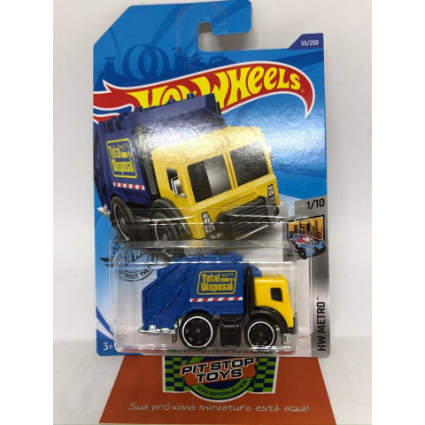 Hot Wheels - Total Disposal Amarelo - Mainline 2020