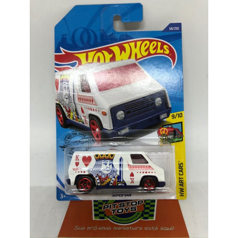 Hot Wheels - Super Van Branco - Mainline 2020