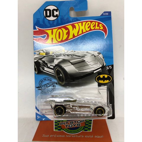 Hot Wheels - Batmobile Cromado -  Batman DC Mainline 2019
