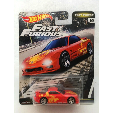 Hot Wheels - Madza RX-7 FD Vermelho - Fast Tuners - Fast and Furious - Velozes e Furiosos