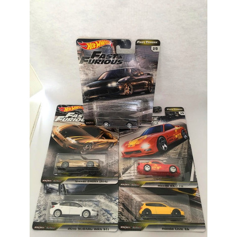 Hot Wheels - Set Fast Tuners 2020 - Completo 5 Miniaturas - Fast and Furious