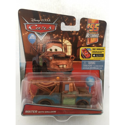 Disney Cars - Mater With Balloon Marrom - 95 Returns