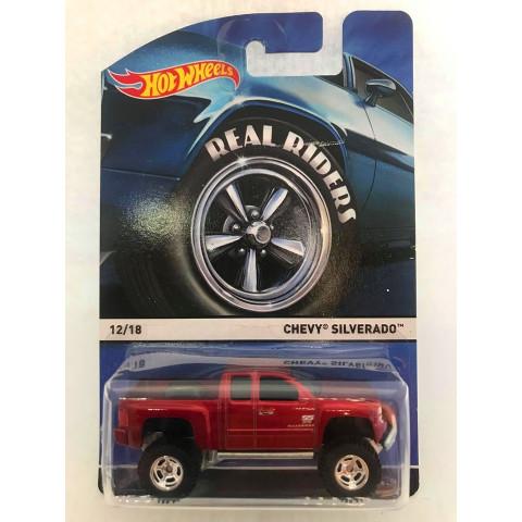 Hot Wheels - Chevy Silverado Vermelho - Heritage - Real Riders