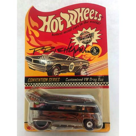 Hot Wheels - Customized VW Drag Bus Cromo - Conventions Series - Autografada Phil Riehlman