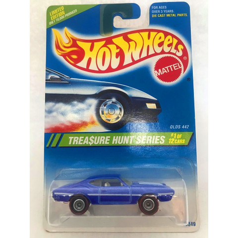 Hot Wheels - Olds 442 Azul - Treasure Hunt Super 1995