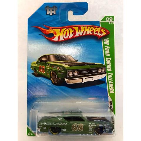 Hot Wheels - 69 Ford Torino Talladega Verde - Treasure Hunt Normal 2010