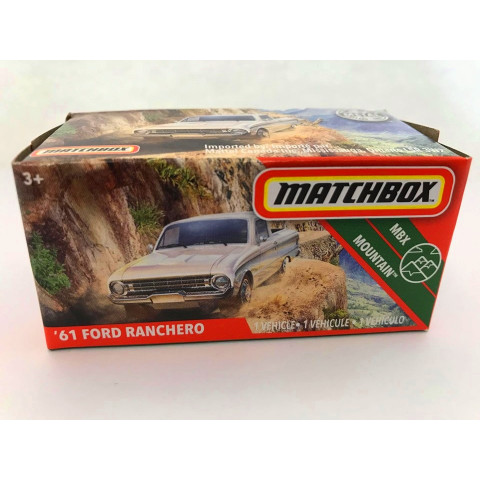 Matchbox - 61 Ford Ranchero Branco - Power Grabs - Básico 2020