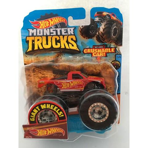 Hot Wheels - Racing Vermelho - Giant Wheels - Monster Trucks