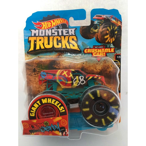 Hot Wheels - Demo Derby Colorido - Giant Wheels - Monster Trucks
