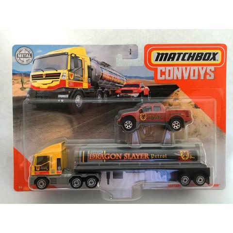 Matchbox - MBX Cabover e Tanker \\\ Badlander  Amarelo/Vermelho - Convoys - Básico 2020