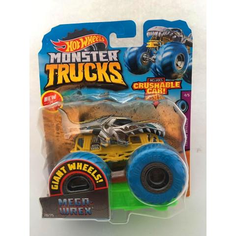 Hot Wheels - Mega Wrex Cinza - Giant Wheels - Monster Trucks