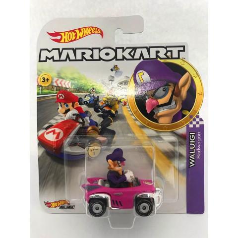 Hot Wheels - Waluigi Rosa - Mario Kart