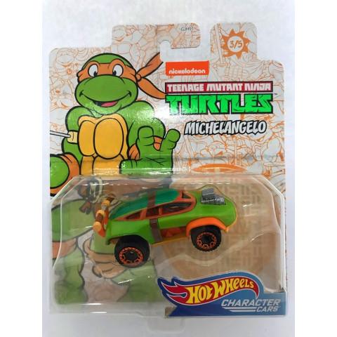 Hot Wheels - Michelangelo Verde - Teenage Mutant Ninja Turtles