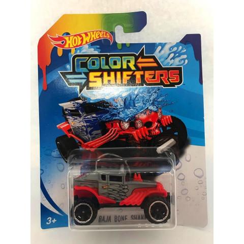Hot Wheels - Baja Bone Shaker Vermelho/Cinza - Color Shifters