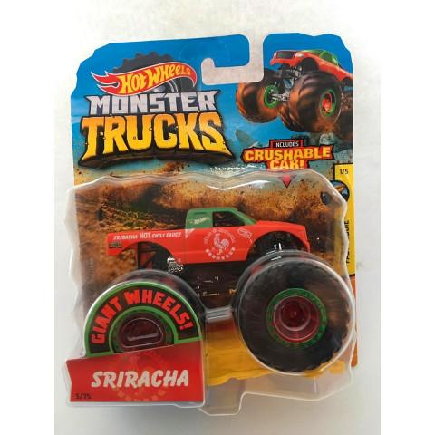 Hot Wheels - Sriracha Vermelho - Giant Wheels - Monster Trucks