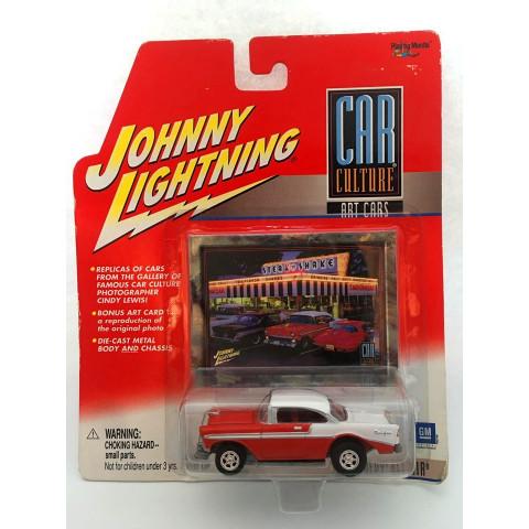 Johnny Lightning - 1956 Chevy Bel Air Vermelho - Car Culture Art Cars